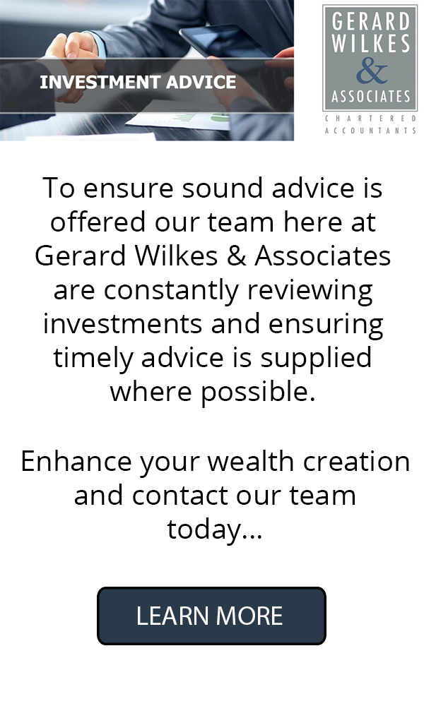 Gerard Wilkes Investment Advice