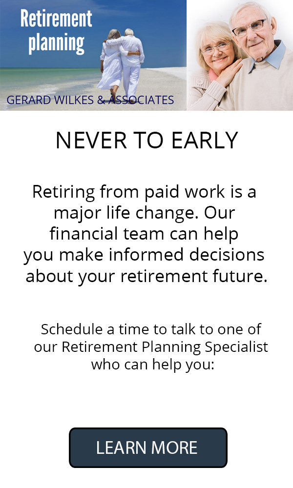 Gerard Wilkes Retirement Planning